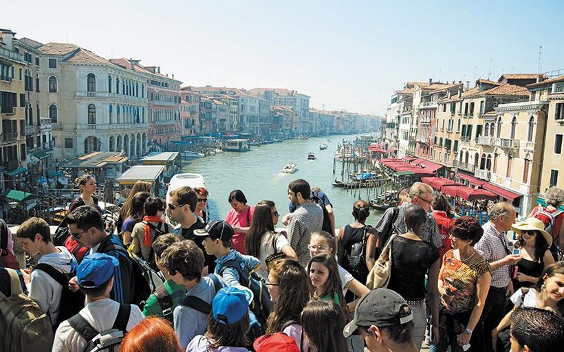 Туристы в Венеции