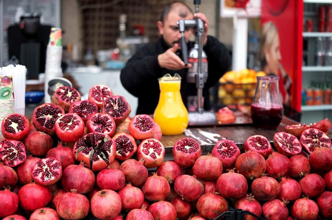 Гранатовый сок в Стамбуле