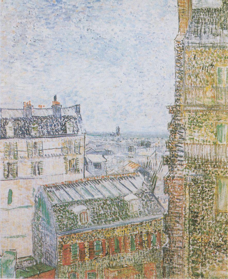 Вид на Париж из квартиры Тео на улице Лепик