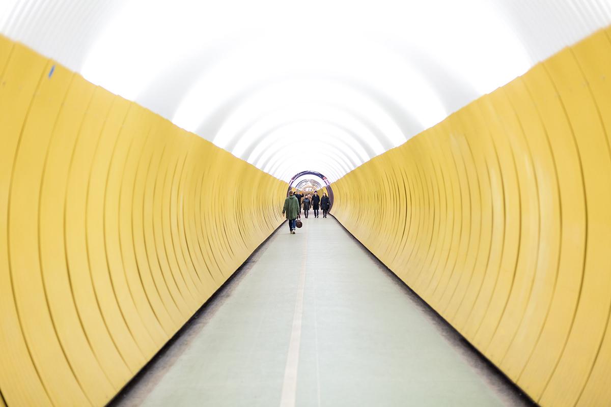 Желтый тоннель в Стокгольме