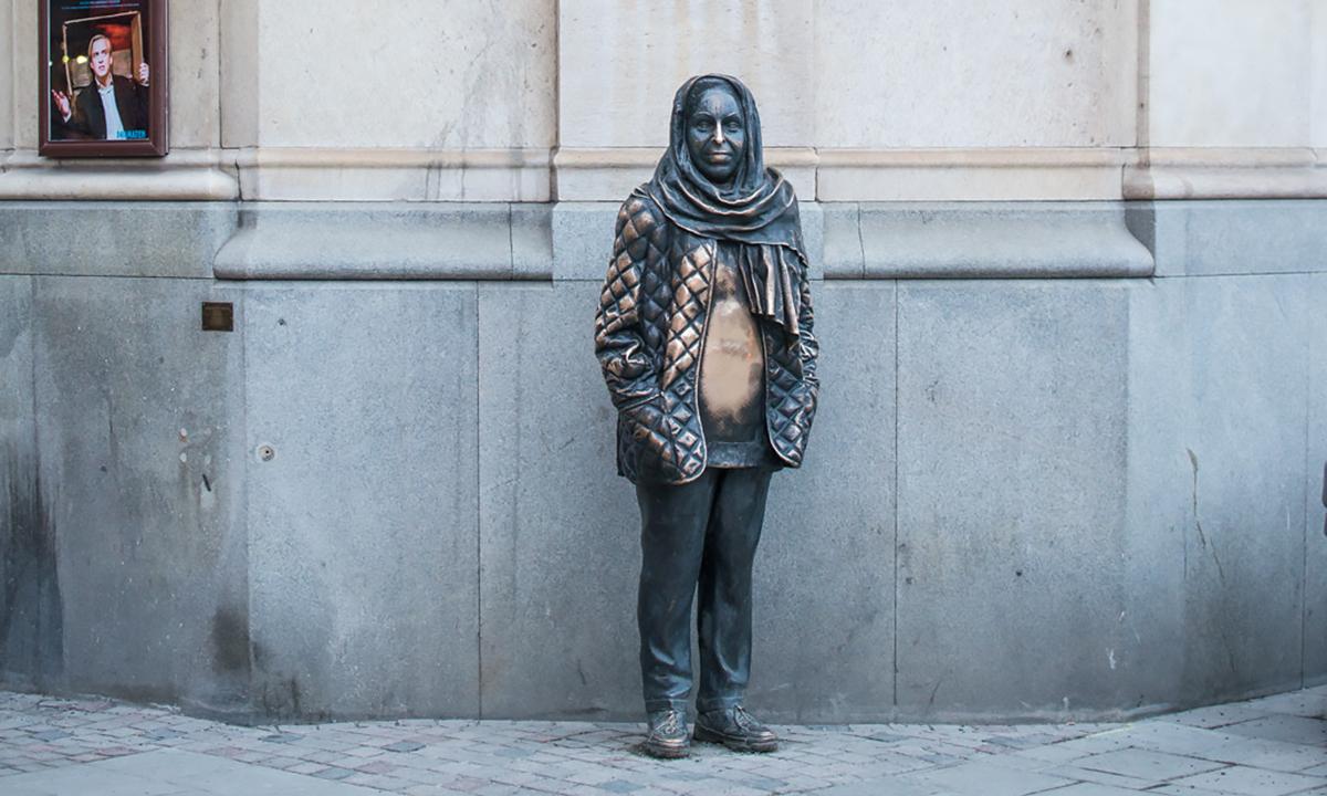Скульптура Маргареты Крок в Стокгольме