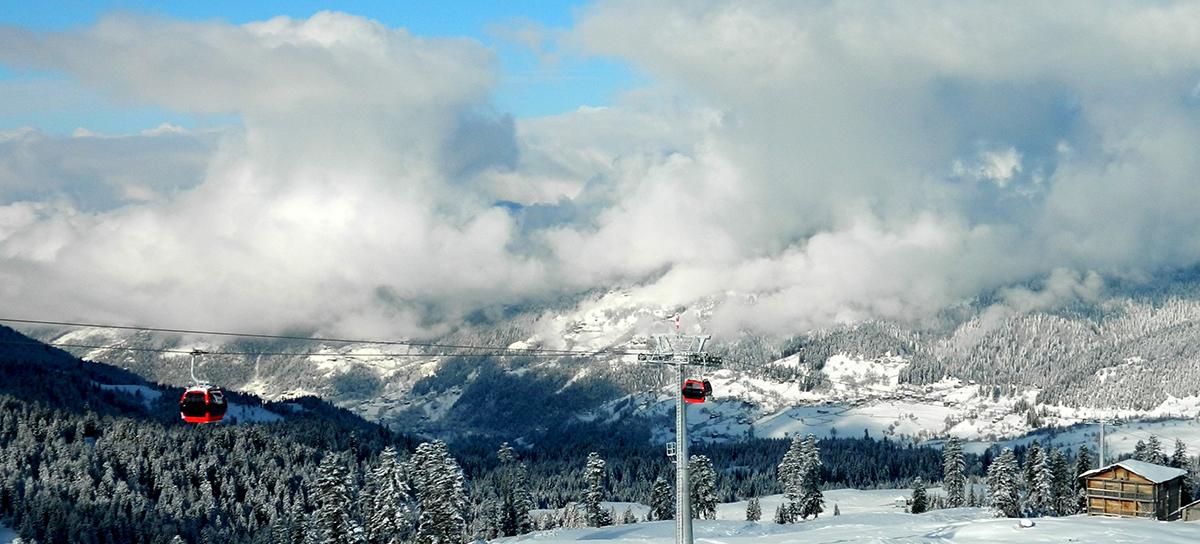 Панорама горнолыжного курорта Годерзи