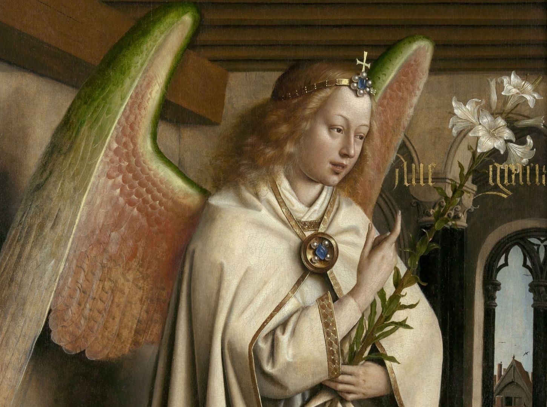 Ангел благовещения Ян ван Эйк