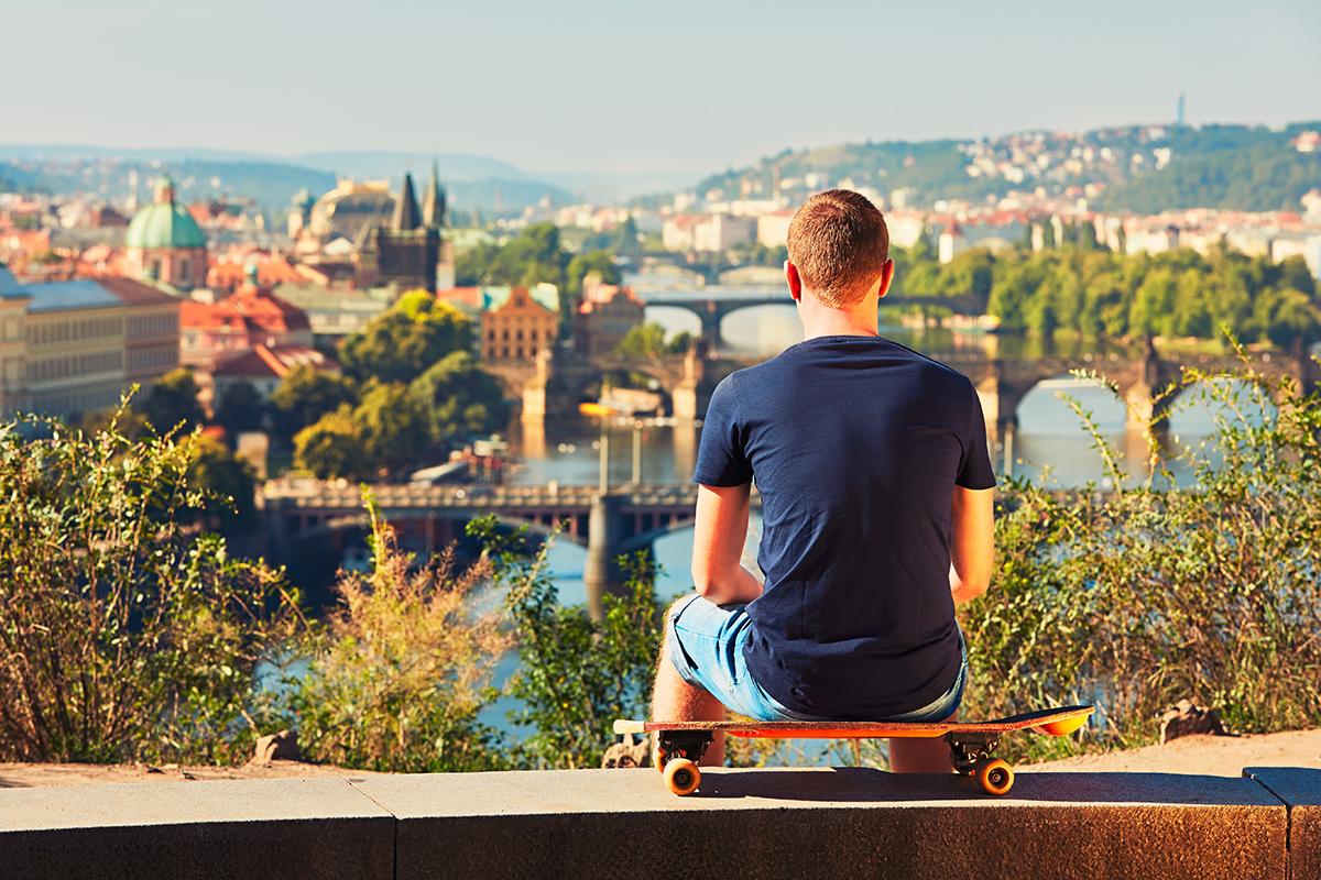 Вид на Влтаву в Праге