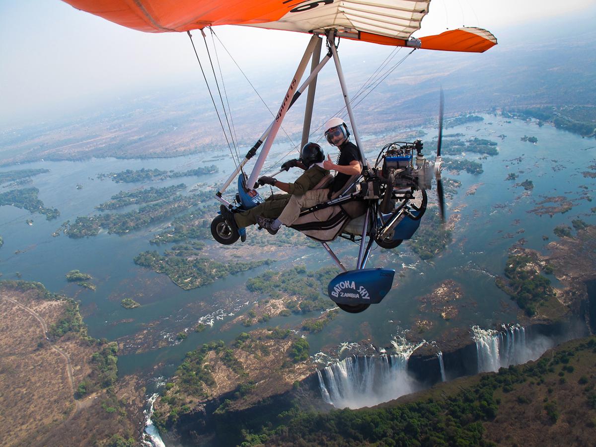 Водопад Виктория, граница Замбии и Зимбабве, Африка