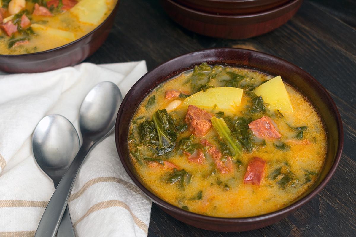 Суп с колбасой в Португалии