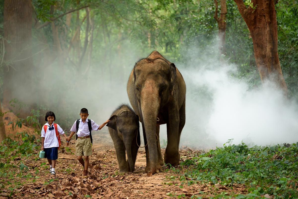Діти в Камбоджі йдуть до школи